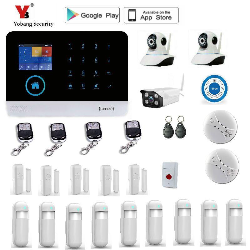 Yobang Security WIFI Gsm Touch Keypad Alarm System WIFI+GSM Wifi Automation GSM Alarm System Home Protection WIFI GSM Alarm