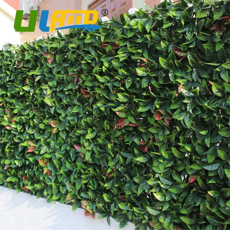 ULAND Artificielle Buis Panneaux 6 pcs 50x50 cm Plantes Artificielles Tapis Décoratif Haie de Buis En Plastique Clôture Pour Le Jardin balcon