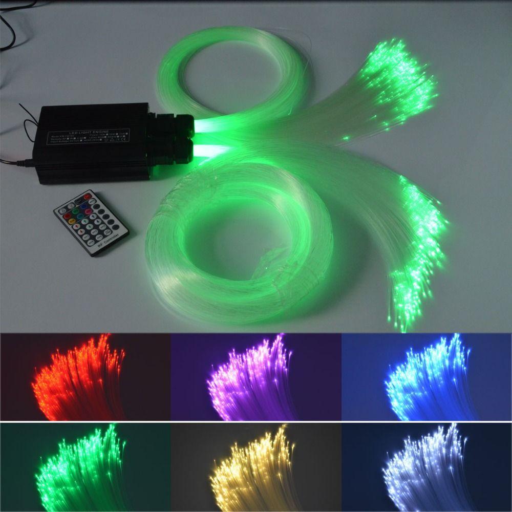 32W LED RGBW Fiber Optic Star Ceiling Light Kit 300pcs*0.75mm*3M 150pcs*1mm*3M optical fiber led light engine +crystal