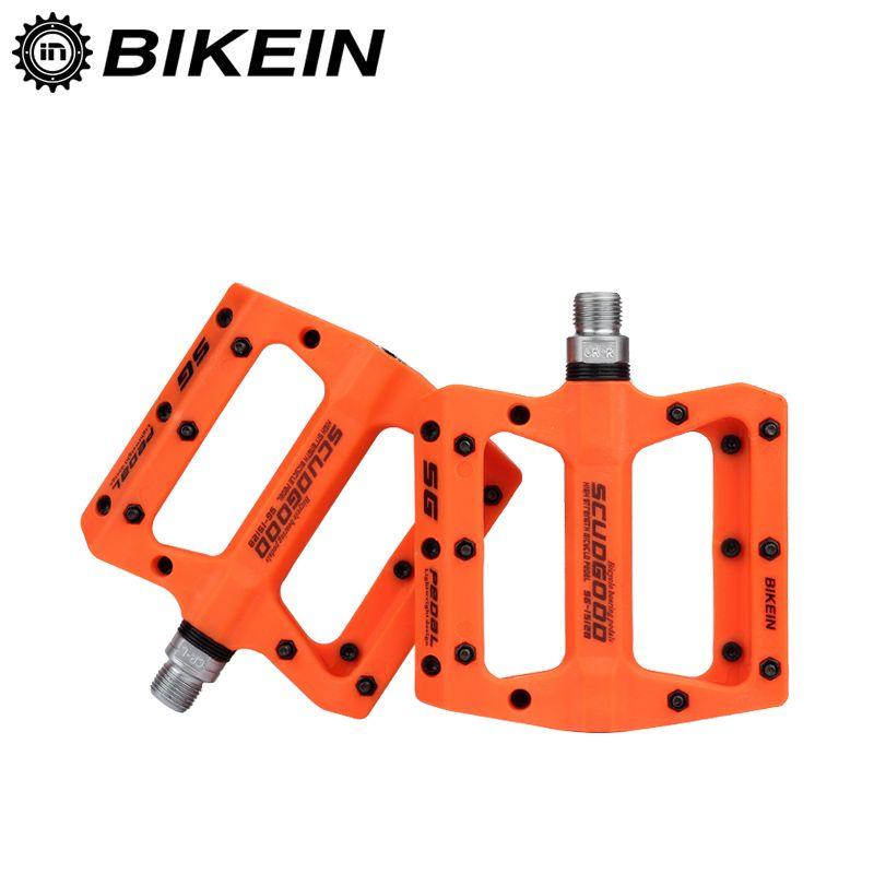 BIKEIN Mountain Bike <font><b>Pedal</b></font> MTB <font><b>Pedals</b></font> BMX Bicycle Flat <font><b>Pedals</b></font> Nylon Multi-Colors MTB Cycling Sports Ultralight Accessories 355g