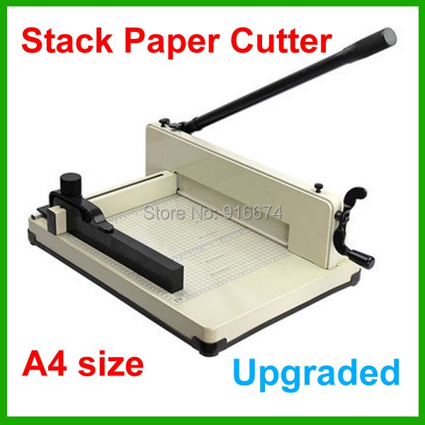 858 A4 New Heavy Duty A4 Size Stack Paper Cutter All Metal Ream Guillotine No Assembly Required