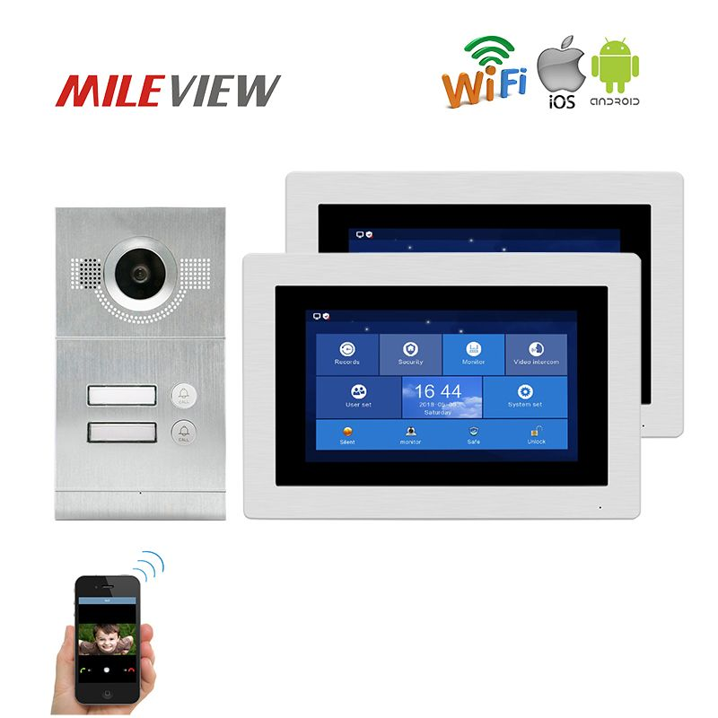 Free Shipping 1.0MP HD WIFI IP Apartment 7