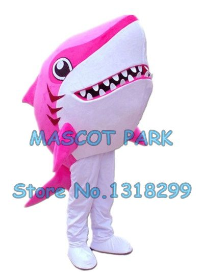 cartoon pink shark mascot costume new custom hot sale sea animal shark theme anime cosply costumes carnival fancy dress 2941
