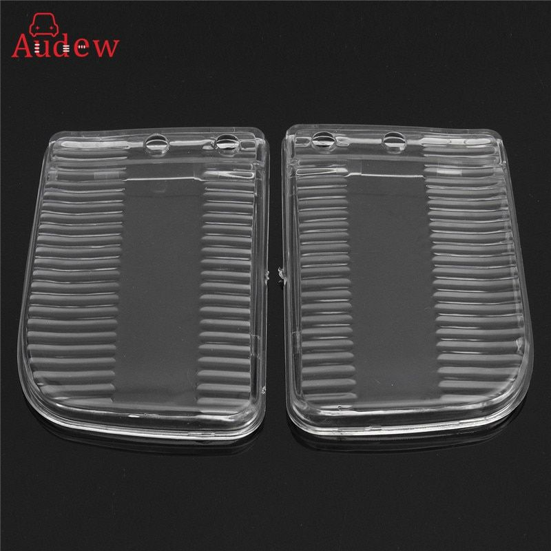 1 Pair(2PCS) Front(Right+Left) Bumper Fog Lights Plastic Clear Lens Cover Shell For BMW E30 1982-1991