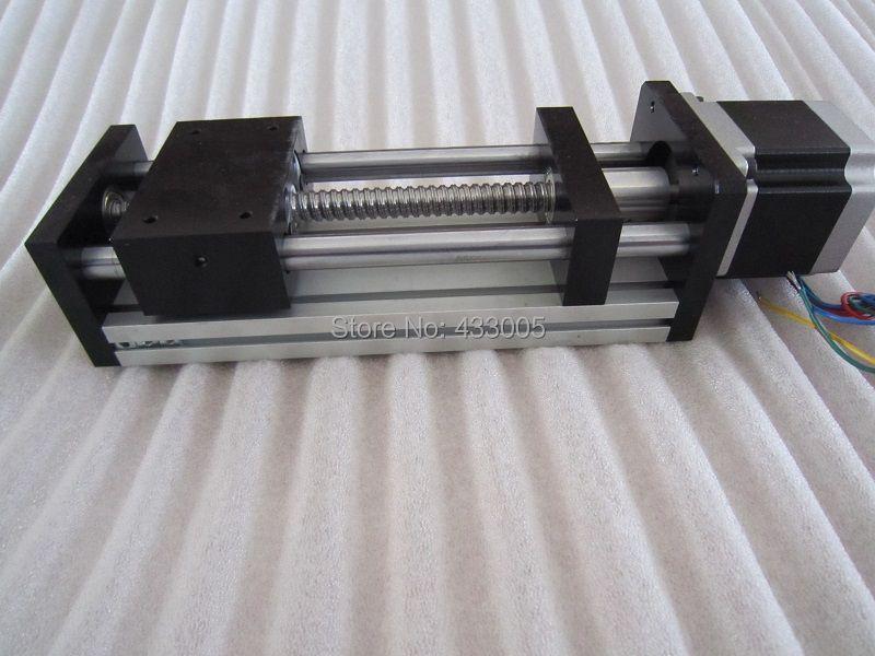 CNC GGP ball screw 1204 Sliding Table effective stroke 200mm Guide Rail XYZ axis Linear motion+1pc nema 23 stepper motor