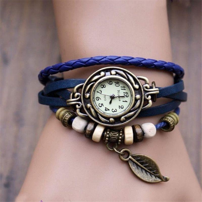 2016 hot saleRelogio Feminino New Leather Strap Bracelet Women Watch Ladies Quartz Wristwatch Clock Montre Femme Reloj 17Dec 20