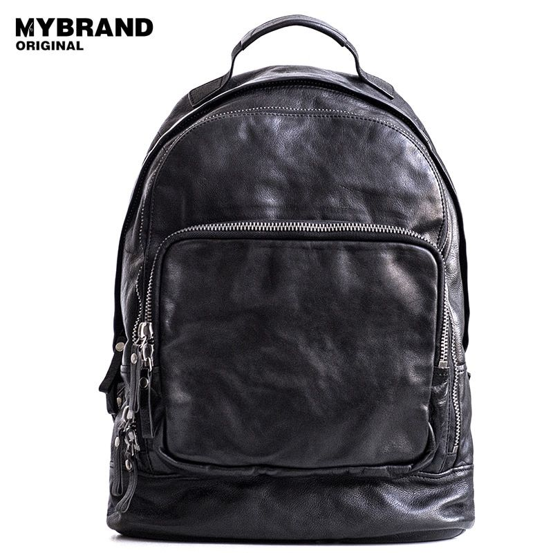 MYBRANDORIGINAL genuine leather backpacks for women cow leather men backpack big capacity vegetable tanned leather backpack B129