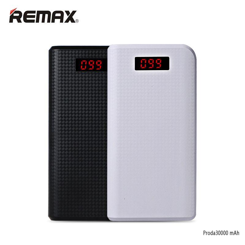 Remax Proda LED 30000 mah puissance banque 30000 mah pau banque USB portable externe batterie de charge comprimés xiomi powerbank baterias