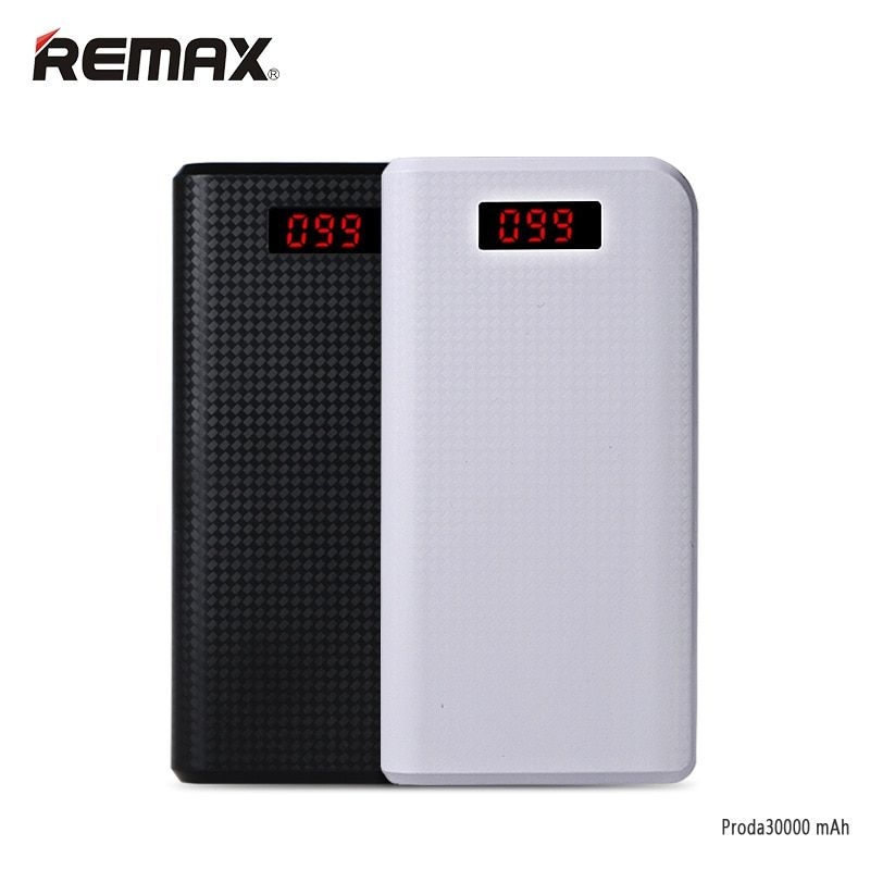 Remax Proda LED 30000mAh power bank 30000 mah pover bank USB portable <font><b>external</b></font> battery charging tablets xiomi powerbank baterias