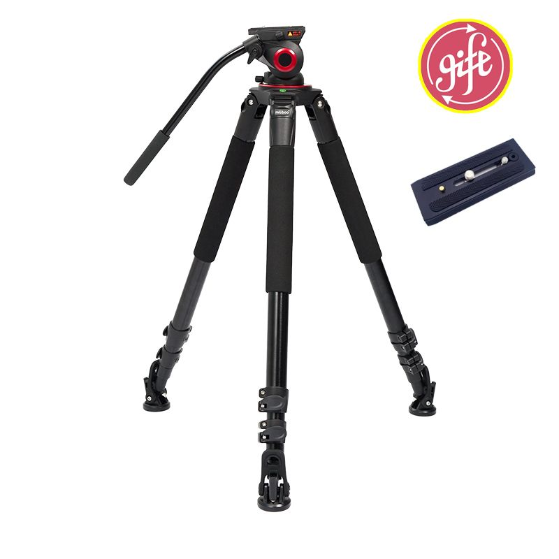 Miliboo IronTower MTT703A 25kg weight bear Alloy Aluminum professional camera Video tripod stand Fluid head