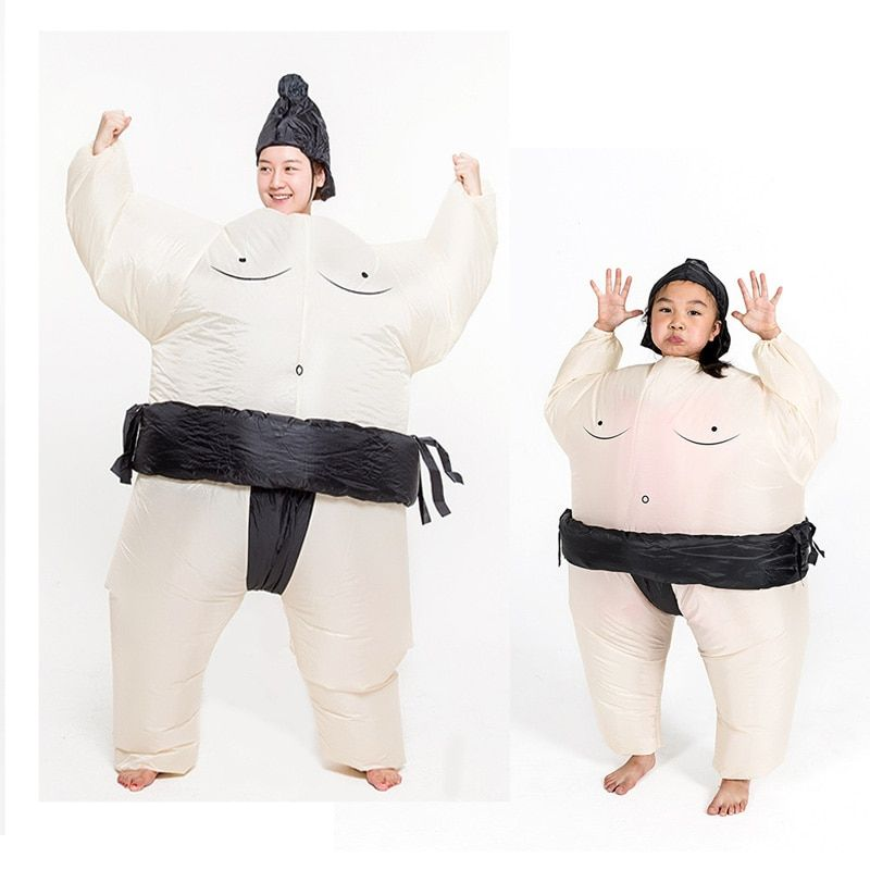 Sumo Inflatable Costume For Adult Kids Wrestling Cosplay Suits Airblown Outfits Halloween Party Fancy Dress Blow Up Novetly Toys