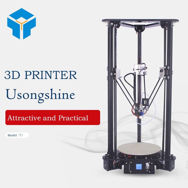 Cheap 3D Printer Kit Manufacturer ARM color High Speed DIY Kossel Pulley Delta printers Intelligent Leveling imprimante