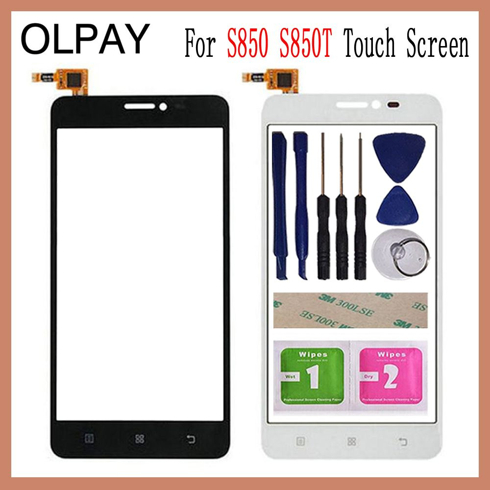 OLPAY 5.0'' For Lenovo S850 S850T Touch Screen Digitizer Panel Repair Parts Touch Screen Front Glass Lens Sensor