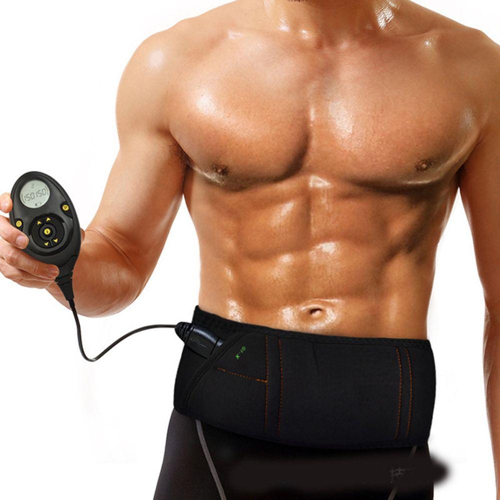 EMS electro stimulation Smart slimming massage belt Abs Abdominal Muscle Toner Core Abs Workout Belt 150 Intensity Levels