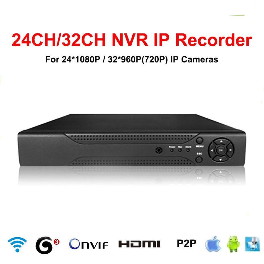 JIVISION 32CH NVR CCTV 24CH 1080p 32CH 960p 720p NVR 32ch HDMI ONVIF P2P Cloud network 32 Channel Network video recorder