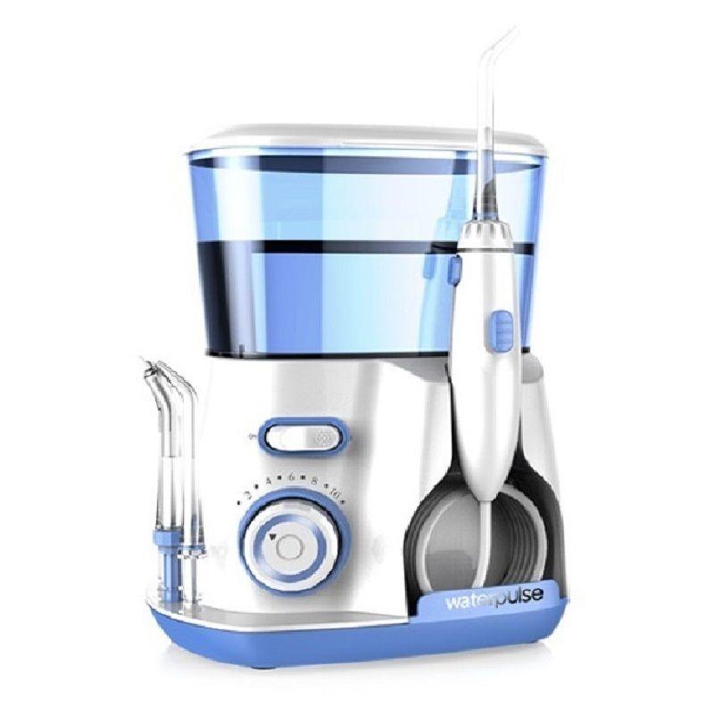 Hydropulseur dentaire Jet-Hydropulseur avec 5 Pointe et 800 ml Réservoir D'eau hygiène dentaire pour l'enlèvement de la plaque et les débris