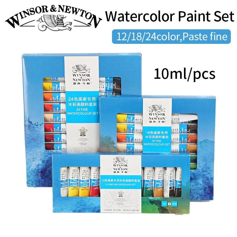 Bgln 12/18/24Colors Water Color Painting Set High Quality Transparent Watercolor Pigment For Artist School <font><b>Student</b></font> Acuarelas