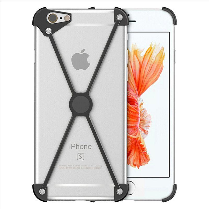 Vente chaude X Forme Cas En Aluminium Pare-chocs pour iPhone 5S 5 SE 6 6 S Plus 7 7 plus Magentic Cadre Vis Sécurisé Antichoc Couvre