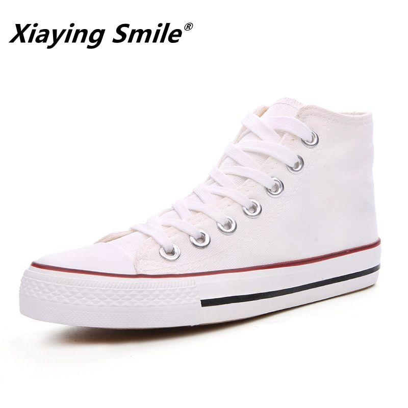 Autumn and Spring Fashion New Paragraph High <font><b>upper</b></font> Canvas Shoes Outdoor Leisure Men Shoes Fashion Students Casual Shoes