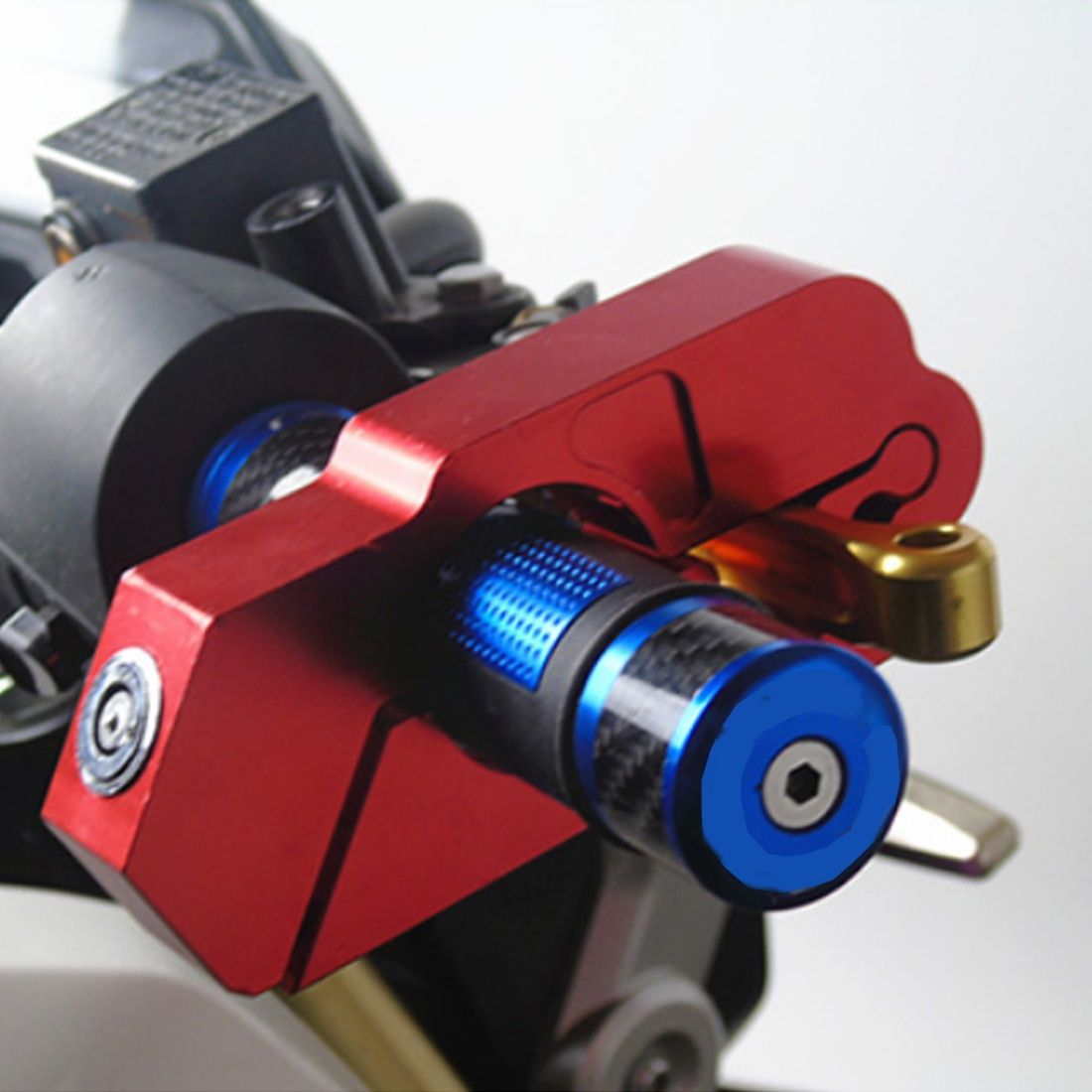 CAR-partment Motorcycle Handlebar Lock <font><b>Scooter</b></font> ATV Brake Clutch Security Safety Theft Protection Locks for Honda Yamaha Piaggio