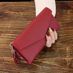 WESTERN AUSPICIOUS mujeres carteras multifunción PU mujeres de cuero de diseño largo femenino titular de la tarjeta larga señora embrague monedero