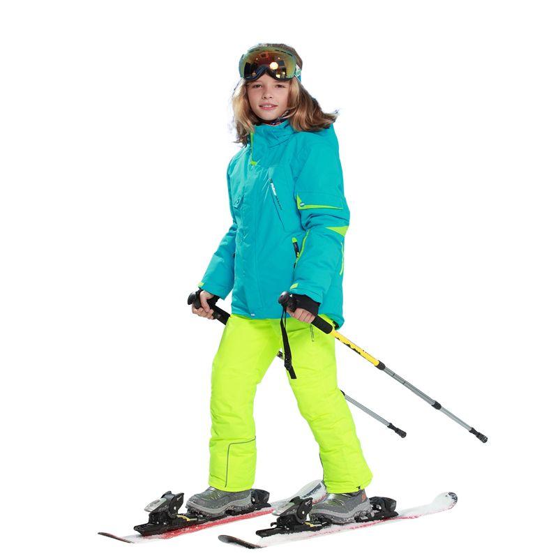 Mioigee 2019 Jungen Mädchen Schnee Kinder Ski Jacke + hosen 2 stücke Sport Anzug für Jungen Kinder Outdoor-Sets Mit Kapuze winddicht Wasserdicht