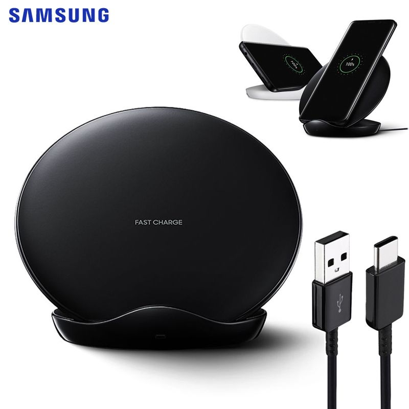 SAMSUNG Original Fast Wireless Charger Charging Pad For Samsung Galaxy S9 Plus S10+ Note 9 Note 8 iPhone8 S7 edge G955F S8 S9+