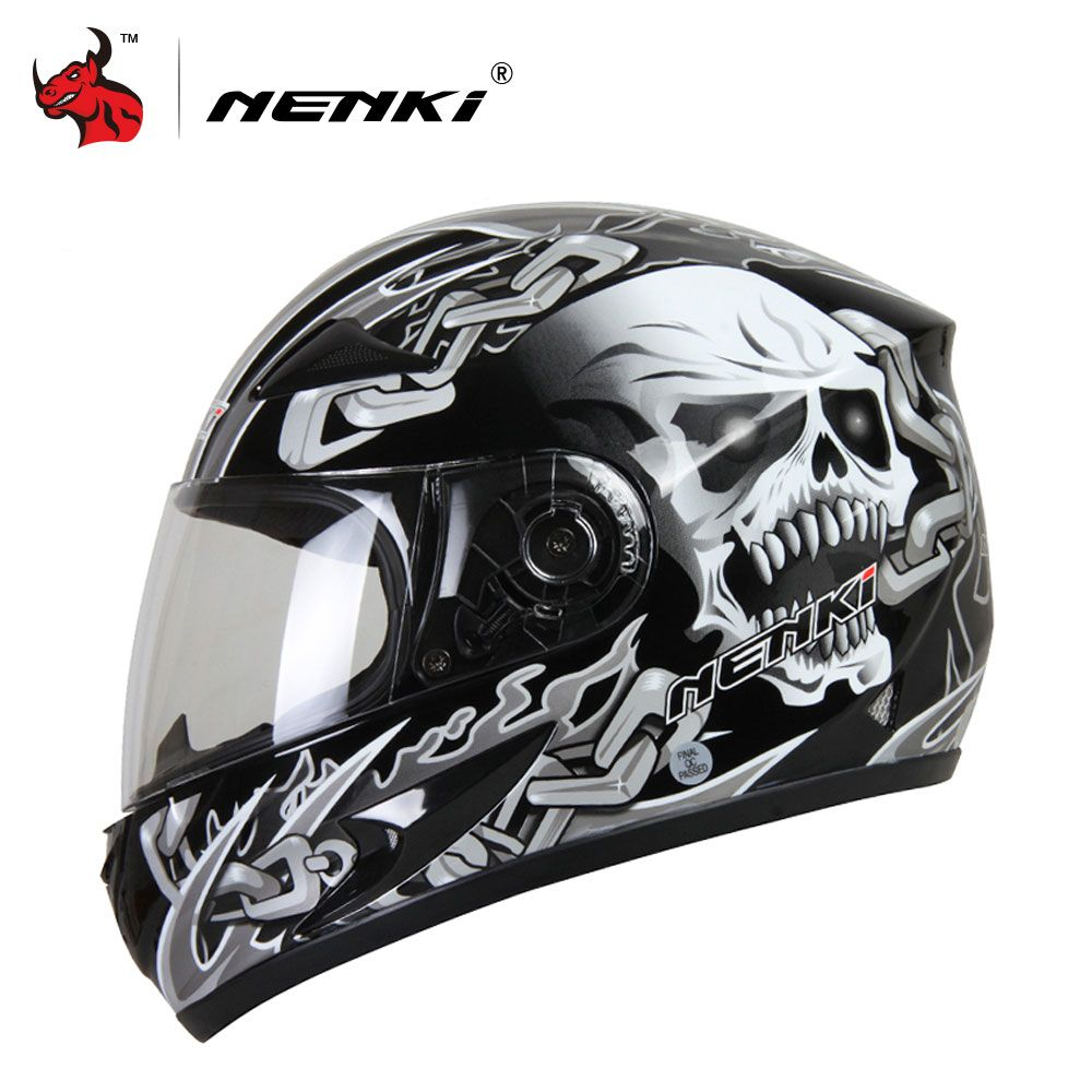 NENKI Moto Casque Moto Motocross Casque Moto Intégral Équitation Casque Casco Moto Pour Hommes Et Femmes