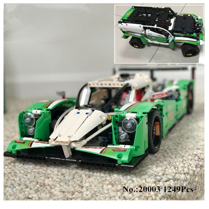 DHL H&HXY IN STOCK 1249PCS 20003 20003B The 24 hours Race Car Building Assembled Blocks Bricks Enlighten lepin Toys Gifts 42039