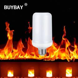 BUYBAY E27 E26 2835 LED Flamme Effet Feu Lumière Ampoules 7 W Creative Lumières Clignotantes Émulation Vintage Atmosphère Lampe Décorative