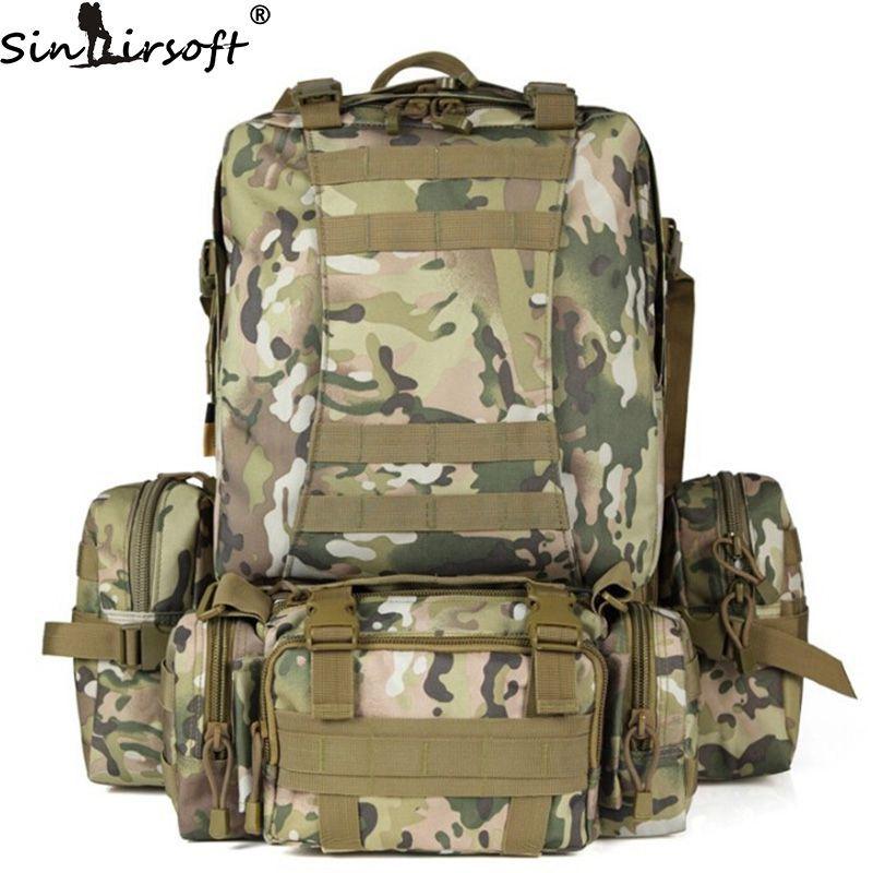 SINAIRSOFT 50L Molle Hohe kapazität Nylon Taktische Rucksack Assault Militär Rucksäcke Rucksack Camping Jagd Sport Tasche LY0017