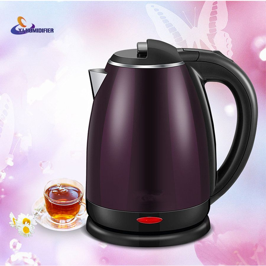 YJ HUMIDIFIER 1.8L Stainless Steel Safety Auto-Off Function Quick Heat Electric Kettle Household Electric Boiling Pot