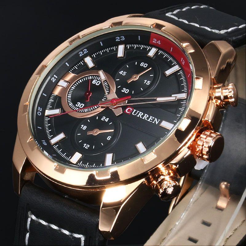 2018 CURREN Quartz Watch Men Watches Top Brand Luxury Famous Wristwatch Male Clock Wrist Watch Luminous watch Relogio Masculino