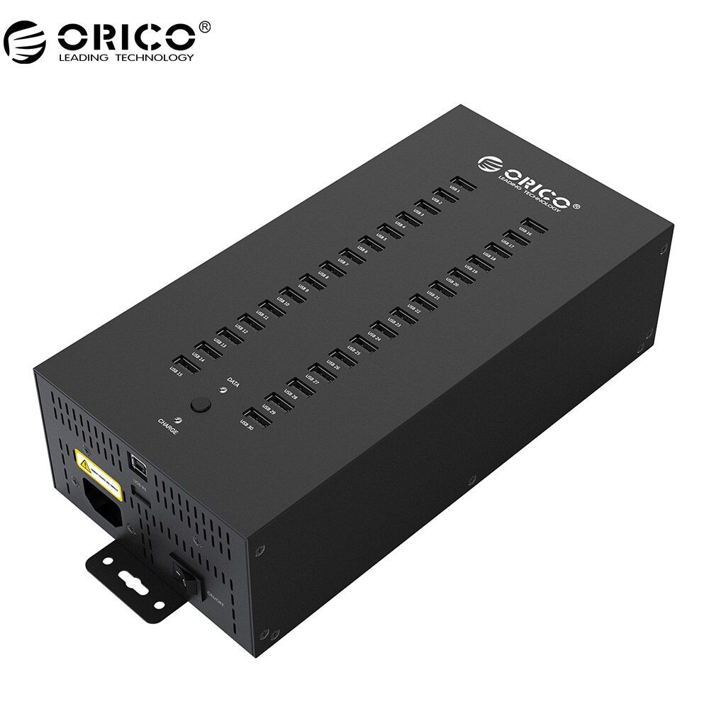 ORICO 30 Ports Industrielle USB2.0 HUB wirh 300 Watt Getrennt (IH30P)