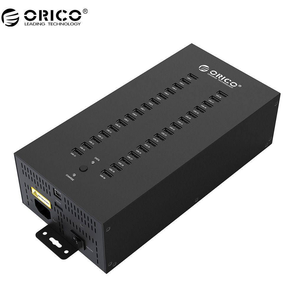 ORICO 30 Ports Industrial USB2.0 HUB wirh 300W Detached Power Module (IH30P)