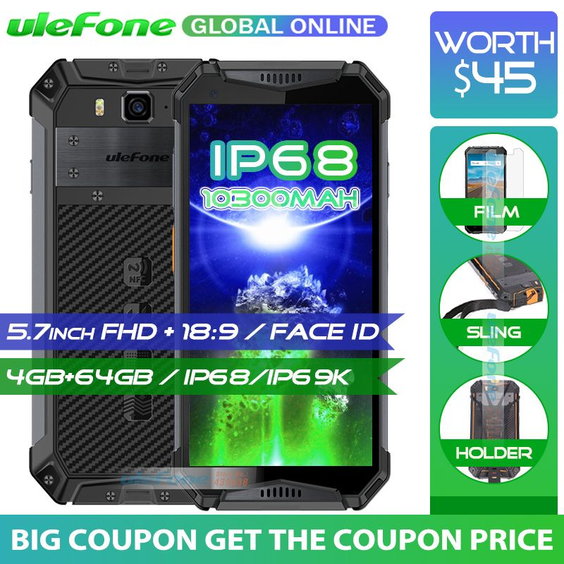 Ulefone Armor 3 IP68 Waterproof Mobile Phone 10300mAh 5.7