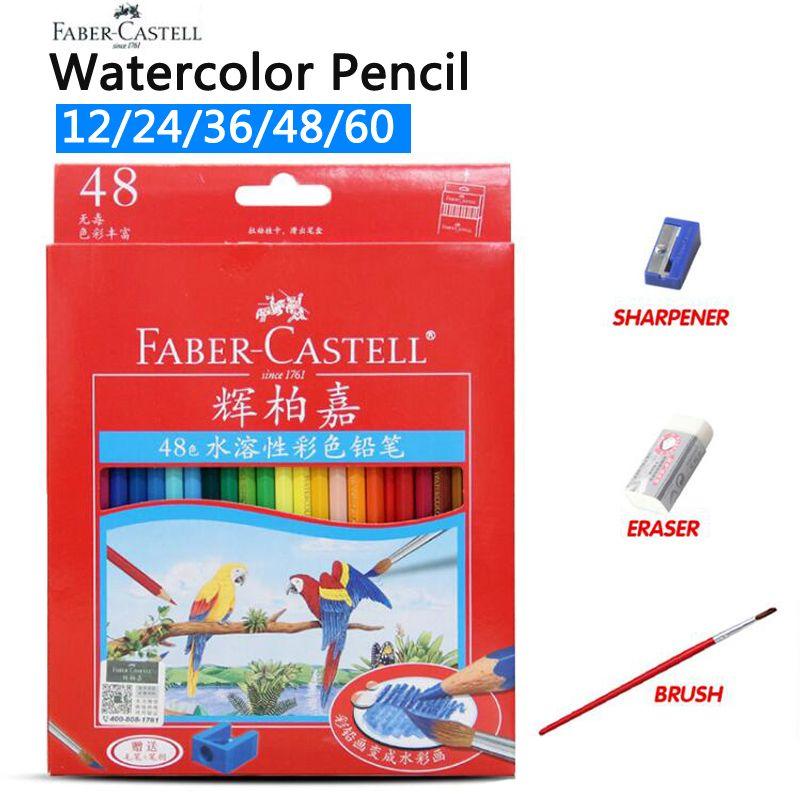 Faber Castell 72 couleurs crayon De couleur à l'eau étudiant peinture aquarelle crayon De couleur pour dessin croquis Lapices De couleurs
