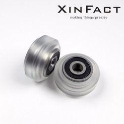 Poly Carbonate De Forte Solide V roue Assy pour Openbuilds V-Slot rail, OX CNC, V Slot, roue pleine-Lot10/Lot12/Lot16