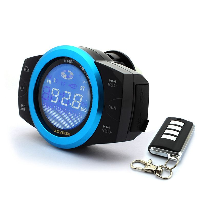 Waterproof Motorcycle Scooter stereo player Audio system MP3 Player,FM Radio,USB and TF card Play,Alarm Theft Protection
