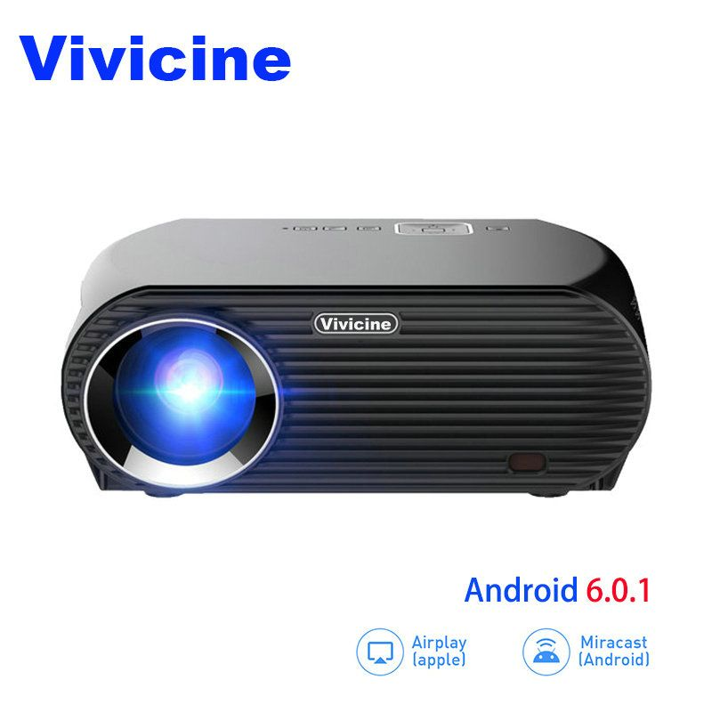 Vivicne Tragbare HD Projektor, Optional Android Bluetooth, 3500 Lumen, perfekte Beamer Proyector für Home Thearter und Video Spiele