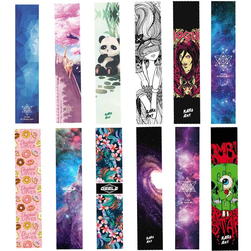 Free Shipping 1pcs 24*122cm Thick Skateboard Longboard Griptape Deck Sandpaper <font><b>Grip</b></font> Tape Sticker Long Board Sand Paper