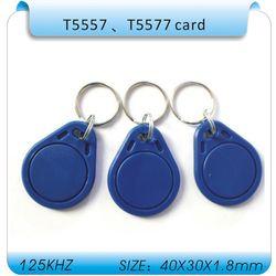 10pcs/Lot Rfid Tag 125Khz Copy Keychain ,rewritable T5557/EM4305 Rfid Copy Key fob ,Support 125K H- ID format