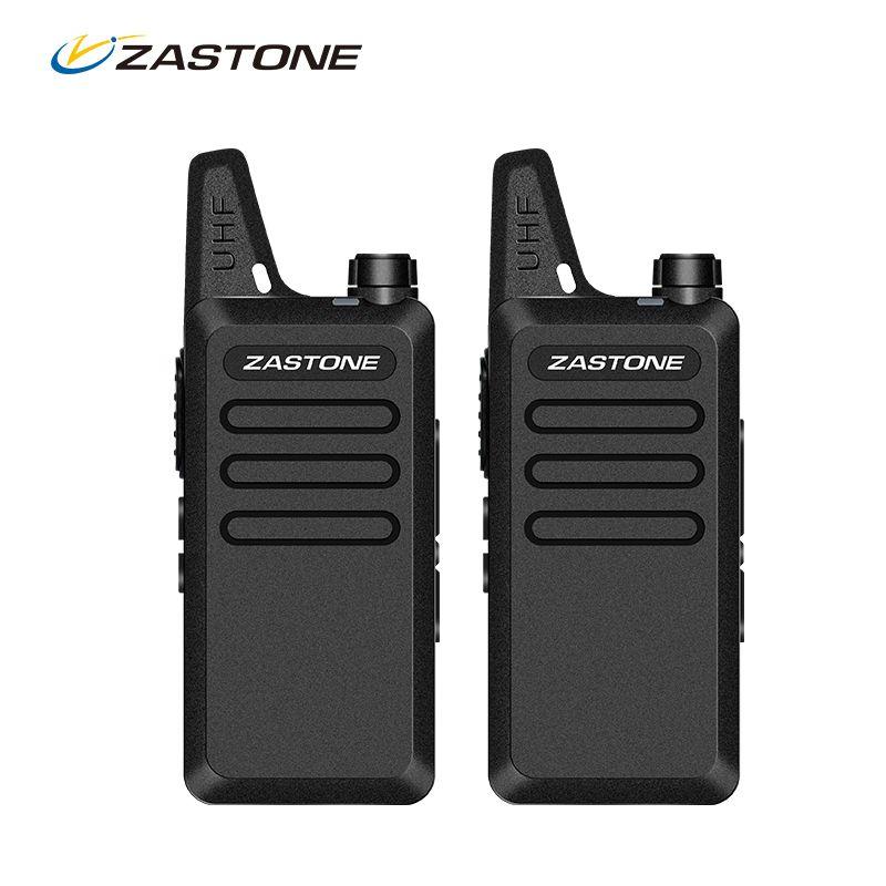 Talkie Walkie Portable Radio Zastone UHF 400-470 MHz Mini HF Émetteur-Récepteur à Deux Voies Radio Communicateur Pour La Chasse Radio