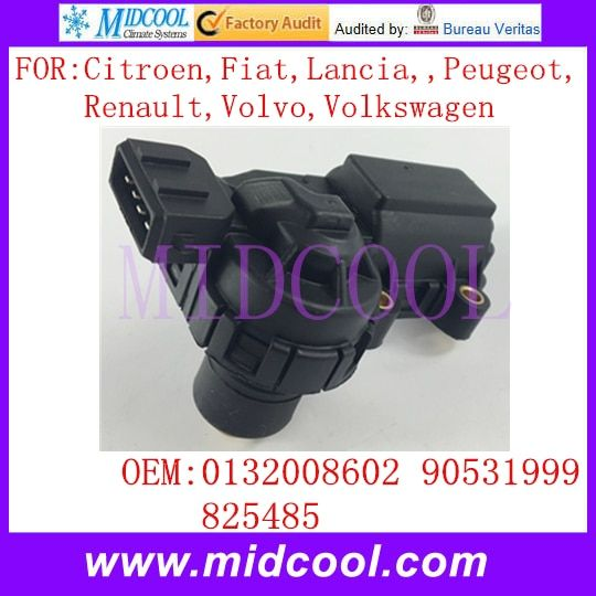 New Auto IAC Idle Air Control Valve use OE NO. 0132008602 , 90531999 , 825485 for Citroen Fiat Lancia Peugeot Renault Volvo VW