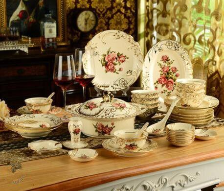 Europäische keramik geschirr schüssel anzug China Phnom Penh geschirr kombiniert kreative hochzeitsgeschenke