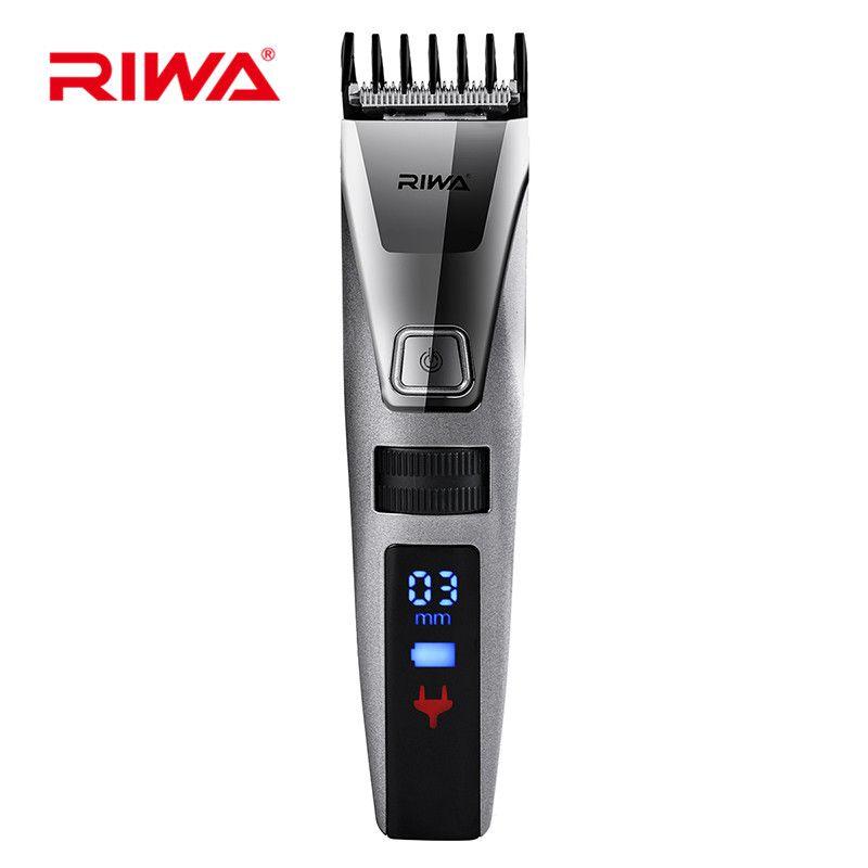 RIWA K3 IPX5 Waterproof Beard Trimmer Electric Hair Clipper Shaver LCD Display Hair Trimmer cortadora de cabello Fast Charging