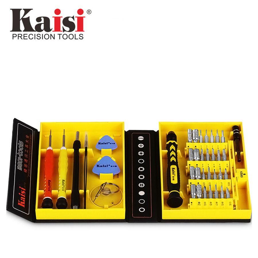 Kaisi Precision 38 en 1 jeu de tournevis outil de réparation d'ouverture de téléphone multifonctionnel adapté pour iPhone/téléphone/ordinateur portable/PC
