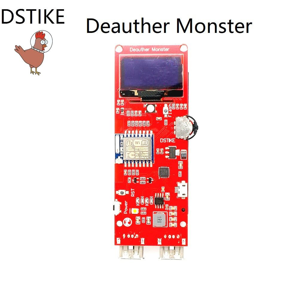 DSTIKE WiFi Deauther Monster ESP8266 1,3 OLED 8dB Antenne 18650 power bank 2A schnellladung 2USB 2.8A ausgang keine PB WiFi angriff
