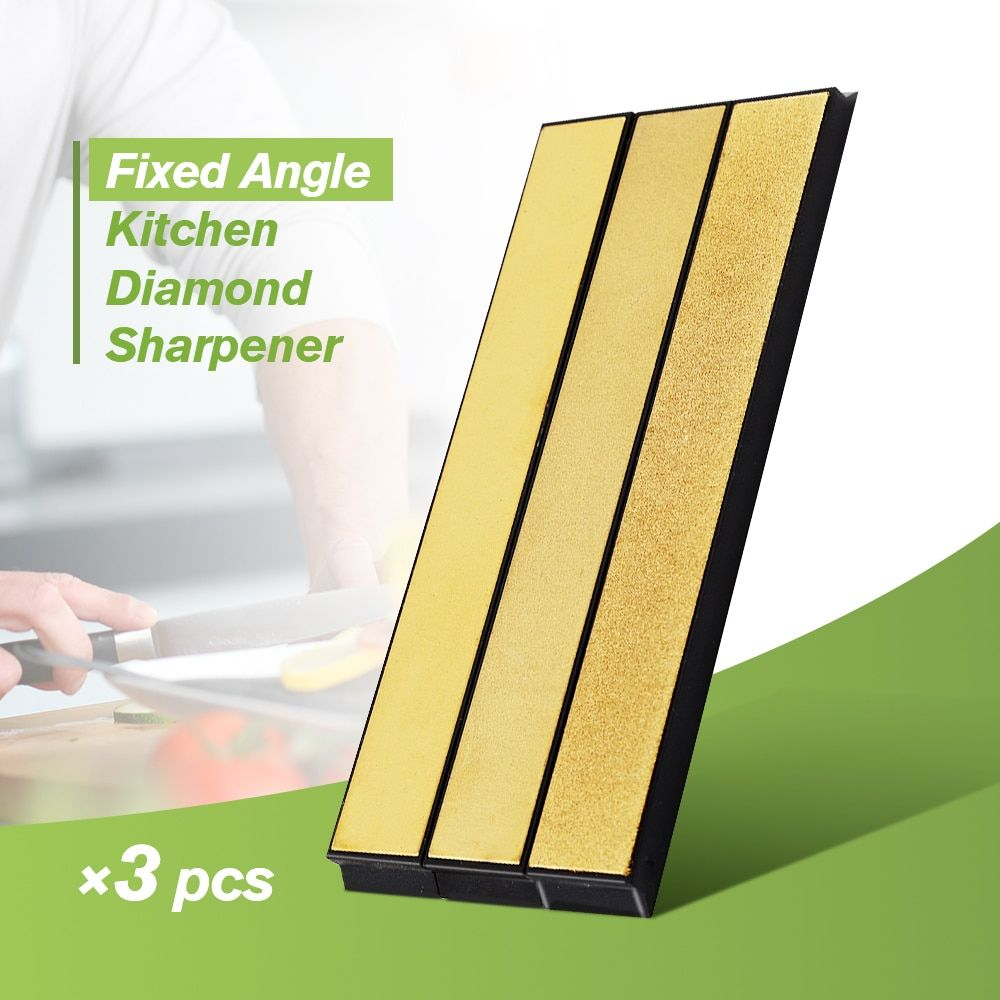 DMD Knife Sharpener Professional Fixed Angle Stone Sharpener 3PCS Knife Sharpener Tool Useful Sharpener For Knives 240#600#1000#
