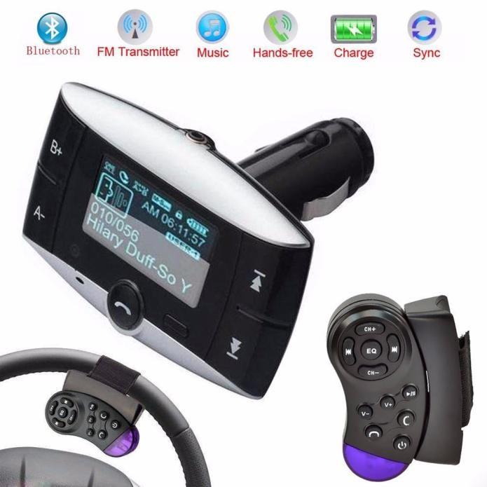1PC Universal 12 V 1.5 Inch LCD Car Kit MP3 Player Bluetooth 2.0 FM Transmitter Modulator SD MMC USB Remote Car Accessories